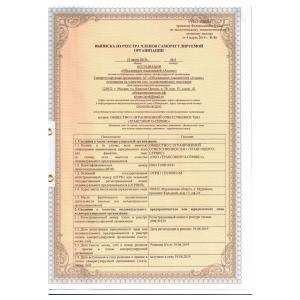 Выписка из реестра саморегулируемой организации. Стр. 1